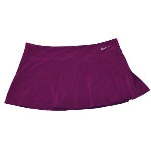 Nike purple pleated tennis skort skirt